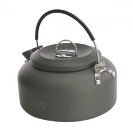 ALOCS CW-K02 Outdoor Backpack Camping Kettle Teapot Ultralight Cookware Water Pot 0.8L Gray
