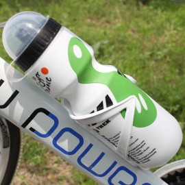 Portable Outdoor Bicycle 750mL Sports Drink Jug Water Bottle White & Green