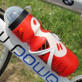 Portable Outdoor Bicycle 750mL Sports Drink Jug Water Bottle Red & White
