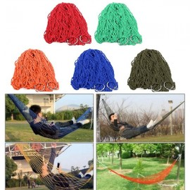 Nylon Hammock Hanging Mesh Net Sleeping Bed for Camping Picnic Travel Green