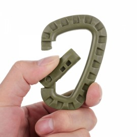 Outdoor Lightweight POM Tactical Carabiner Keychain Khaki