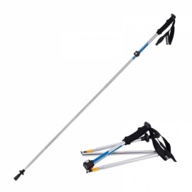 NatureHike Ultralight Outdoor Folding Alpenstocks Trekking Pole Walking Stick Blue