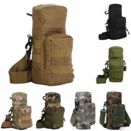 Tactical Outdoor Traveling Utility Water Bottle Bag Pouch ACU Camouflage
