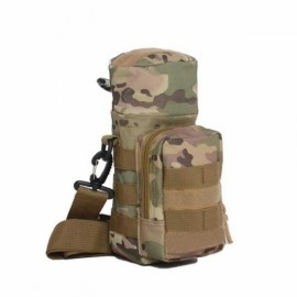 Tactical Outdoor Traveling Utility Water Bottle Bag Pouch CP Camouflage