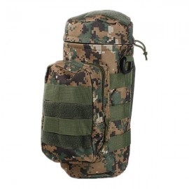 Tactical Outdoor Traveling Utility Water Bottle Bag Pouch Digital Camo