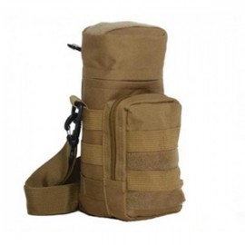 Tactical Outdoor Traveling Utility Water Bottle Bag Pouch Khaki