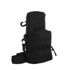 Tactical Outdoor Traveling Utility Water Bottle Bag Pouch Black