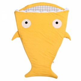 Cute Cartoon Shark Style Newborns Sleeping Bag Winter Strollers Bed Blanket Yellow