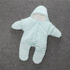 Baby Unisex Starfish Shaped Cotton Sleeping Bag Newborn Baby Outside Sleeping Bag Green