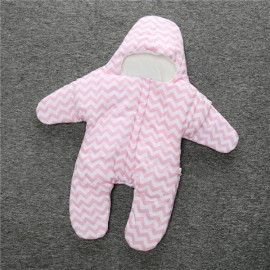 Baby Unisex Starfish Shaped Cotton Sleeping Bag Newborn Baby Outside Sleeping Bag Pink