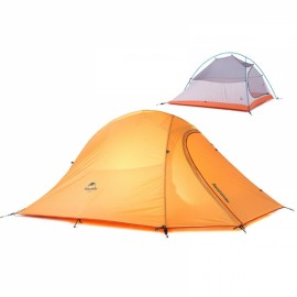 Naturehike Professional Double Layer Camping Water Resistant 190T Nylon Tent for 2 Persons Orange