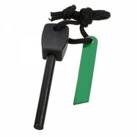 FURA Outdoor Survival Waterproof Magnesium Alloy Flintstone Fire Starter with Scraper Black Size L