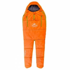 Naturehike 198 x 75 x 50cm Human-shaped Portable Warm Cotton Filling Sleeping Bag for Camping Home Orange