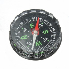 Mini Pocket Liquid Compass Outdoor Survival Navigation Tool Black