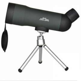 Portable 20 x 50 Zoom HD Monocular Outdoor Telescope with Tripod Night Version Spotting Scope Black