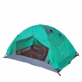 Outdoor Camping 2 Person Tent Double Layers PU 4000 Waterproof Rainproof Canopy Green