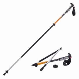 Naturehike 4 Section Trekking Pole Folding Walking Stick Camping Ultralight Aluminium Alpenstock Orange