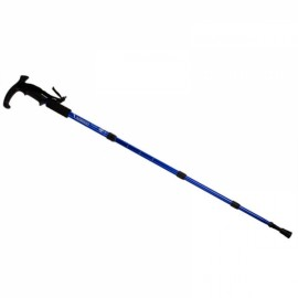 Walking stick Hiking Walking Trekking Trail Poles Ultralight 4-section Adjustable Canes H1E1 Blue