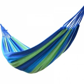 BartonisenN Canvas Outdoor Garden Travel Camping Hammock 190x80cm Blue