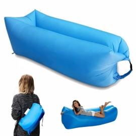 Portable Inflatable Bed Sleeping Sofa for Travelling Camping Sky Blue