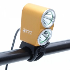 ZSJ-B2 2000lm 4-Mode White Light 2-LED Bicycle Lamp Golden