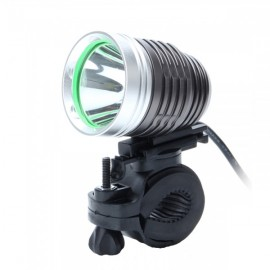 ZHISHUNJIA 360-USB035 360 Degree Rotating 880lm 6-Mode White LED Bike Light Gray & Silver
