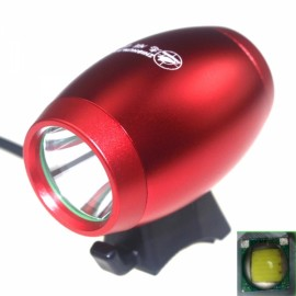 ZHISHUNJIA LT1D-R Powerful LightT6 1000lm 3-LED 4-Mode White Bicycle Light with Mount Red (4 x 18650)