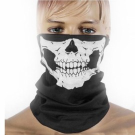 Individual Skull Ghost Pattern Dustproof Biker Mask Black Free Size
