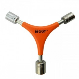 BOY 7034B Newfashioned Y-shaped 11/13/14mm Socket Wrench Bicycle Repair Tool Orange