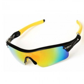 CoolChange Polarized Cycling Glasses Bike Outdoor Sports Bicycle Sunglasses Black & Yellow