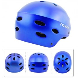Toker Skiing Skating Skateboarding Safety Helmet Bicycle Helmet Matte Blue Size L