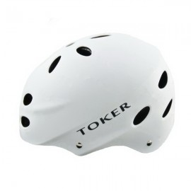 Toker Skiing Skating Skateboarding Safety Helmet Bicycle Helmet Matte White Size L
