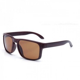 Wood Grain Design Reflective Sports Cycling Sunglasses Outdoor Square Eyewear C13 Coffee Wooden Frame Tea Lens