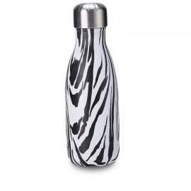 260ml Water Bottle Thermos Flask - Wood-grain Zebra