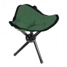 AOTU Camping Hiking Fishing Picnic BBQ Folding Foldable Stool Tripod Chair Green