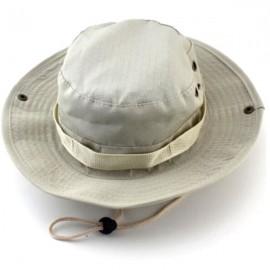 Tactical Combat Camo Hiking Fishing Cap Outdoor Army Sun Block Hat Beige