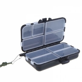 Portable Foldable Fishing Tackle Box Black