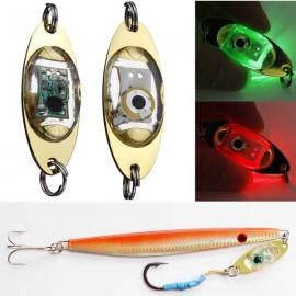 LED Blue Light Bait Deep Drop Underwater Flashing Lamp Metal Light Bait Golden