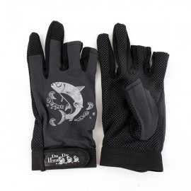 Anti-slip Waterproof Fishing Gloves Night Fishing Special Gloves Black
