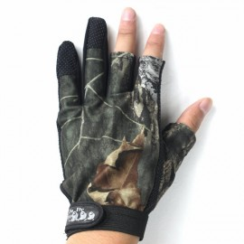 Anti Slip Outdoor Fishing Gloves 3 Fingers Naked Gloves for Men Camouflage