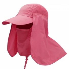 Quick Dry Neck Cover Sun Fishing Hat Ear Flap Bucket Outdoor Watermelon Red
