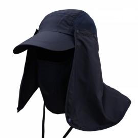 Quick Dry Neck Cover Sun Fishing Hat Ear Flap Bucket Outdoor Dark Blue