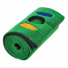 TOURLOGIC Golf Practicing Large Putting Mat Carpet Grass Green