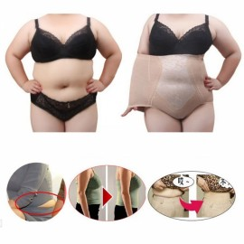 Plus Size Woman Functional Shapewear Hi-Waist Shaping Pants Nude Color 5XL
