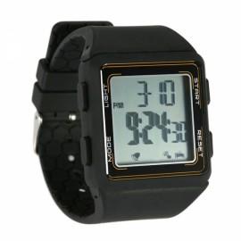 Professional Pedometer Stopwatch Fitness Tracker Sports Wrist Watch Black