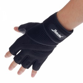 XLY216 Stylish Professional Anti-Skid Fitness Half-Finger Gym Gloves Black M