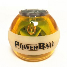 Fitness Body Building Odometer Booster Power LED Wrist Ball Grip Round Ball Orange