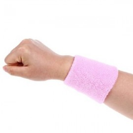 Aolikes Soft Breathable Sweat Absorbing Sports Wrist Support Band Pink