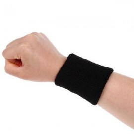 Aolikes Soft Breathable Sweat Absorbing Sports Wrist Support Band Black