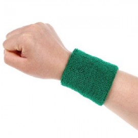 Aolikes Soft Breathable Sweat Absorbing Sports Wrist Support Band Green